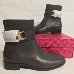 TORY BURCH Gemini Link Brown Ankle Boot Bootie